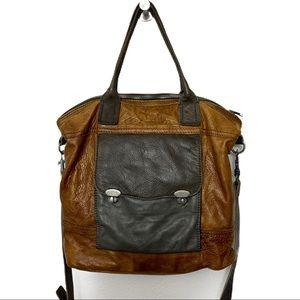 Liebskin Tritone Leather Satchel